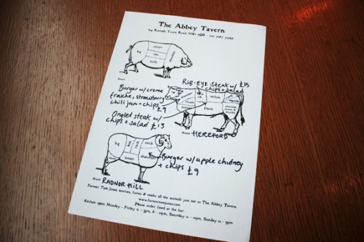 abbey tavern menu
