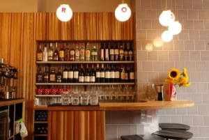 Rosa's Carnaby - Small bar area with three stools