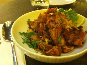 Naamyaa Cafe review Angel Islington Thai restaurant calamari